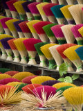 Colorful handmade incense sticks  Da Nang  Vietnam