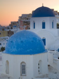 Blue Domed Churches  Oia  Santorini  Greece