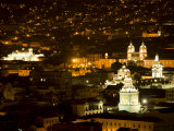 City at Night  Quito  Pichincha Province  Ecuador