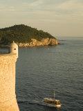 Old city walls built 10th century  Dubrovnik  Dalmatia  Croatia