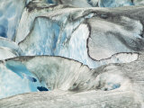Glacier Patterns and Blue Ice  Southeast Alaska  USA