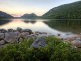 The Bubbles and Jordan Pond in Acadia National Park  Maine  USA
