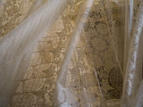 Traditional lace curtain  Dubrovnik  Dalmatia  Croatia