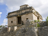 Temple of The Seven Dolls  Dzibilchaltun  Merida  Yucatan  Mexico