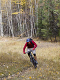 Mountain Biker  Whitefish  Montana  USA