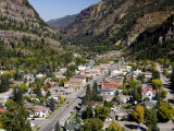 Historic Mining Town  Ouray  San Juan Skyway  US Highway 550  Colorado  USA