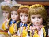 Dolls in traditional clothing  Dubrovnik  Dalmatia  Croatia