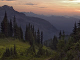 View of the North Cascade Mountains  Tatoosh Wilderness  Washington State  USA