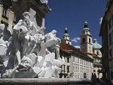The Fountain of Three Camiolan Rivers  Ljubljana  Slovenia