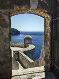 Adriatic Sea Framed By Gate  Dubrovnik  Croatia
