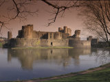 Caerphilly Castle in southern Wales  United Kingdom