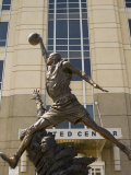 Michael Jordan statue at the United Center  Chicago  Illinois  USA