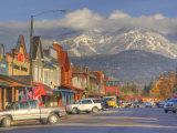 Downtown Whitefish  Montana  USA