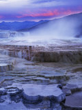 Mammoth Hot Springs  Yellowstone National Park  Wyoming  USA