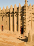 Mosque at Djenne  the largest mud-brick building in the world  Mali  West Africa