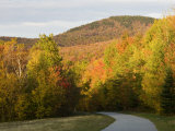 Franconia Notch Bike Path in New Hampshire's White Mountains  USA