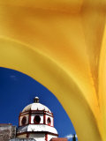 Church Framed With Yellow Arch  San Miguel De Allende  Mexico