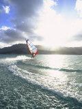 Windsurfing  Kaneohe Bay  Kaneohe  Oahu  Hawaii