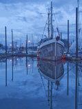 Boats in Harbor at Twilight  Southeast Alaska  USA
