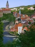 Cityscape of Cesky Krumlov  Vltava River  Czech Republic