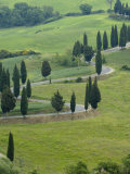 Road From Pienza to Montepulciano  Monticchiello  Val D'Orcia  Tuscany  Italy