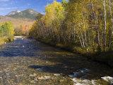 The Percy Peaks rise above Nash Stream  Stark  New Hampshire  USA