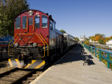Scenic railroad at Weirs Beach in Laconia  New Hampshire  USA