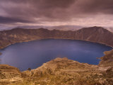 Quilatoa Crater Lake  Andes  Ecuador