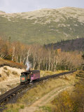 The Cog Railroad on Mt Washington in Twin Mountain  New Hampshire  USA