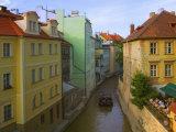 Historical Buildings and Canal  Prague  Czech Republic