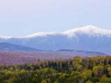 Dusk and Mount Washington  White Mountains  Bethlehem  New Hampshire  USA