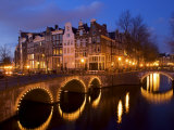 Canal at Night  Amsterdam  Netherlands