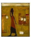Walking Woman with Water Pot Giclée par Karen Bezuidenhout