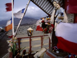 Colorful Roadside Altar in a Desolate Area of Northern Chile