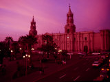 Unusual Evening Light on the Cathedral on the Plaza De Armas
