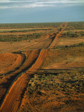 Part of a 3307 Mile Long Wire Fence to Keep Dingoes Away from Sheep