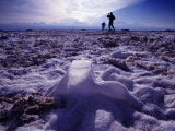 Tourists Explore the Salt Flats Near San Pedro  in the Atacama Desert