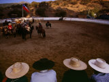 Chilean Cowboys in Traditional Andalusian Sombreros and Ponchos