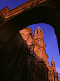 Archway and Iron Gate of the Cathedral on the Plaza De Armas