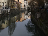 Buildings Reflected in the Ljubljana River