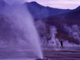 El Tatio Geysers Sprew Steam in the Atacama Desert