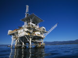 Offshore Oil and Gas Rig in the Pacific Ocean