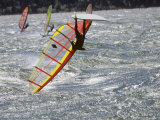 Wind Surfer Gets Upside Down on the Columbia River