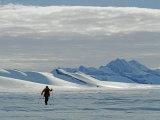 Cross Country Skier Below the Patriot Hills