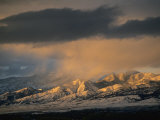 Stormy Sunset on Bridger Mountains Above Bozeman and Gallatin Valley
