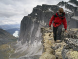 Mountaineer Scrambles on a Ridge in the Cirque of the Unclimbables