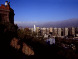 Overlook in Modern Downtown Santiago  Chile's Capital City