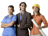 Young Adults with Careers in Medicine  Business and Engineering