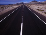 Pan American Highway in the Atacama Desert  the Driest Place on Earth