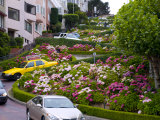 Famous Crooked Street known as Lombard Street in San Francisco